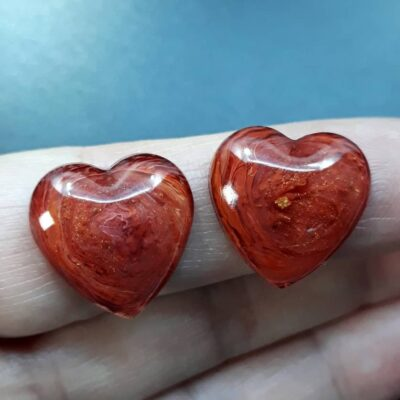 cabochon in resina cuore rudy